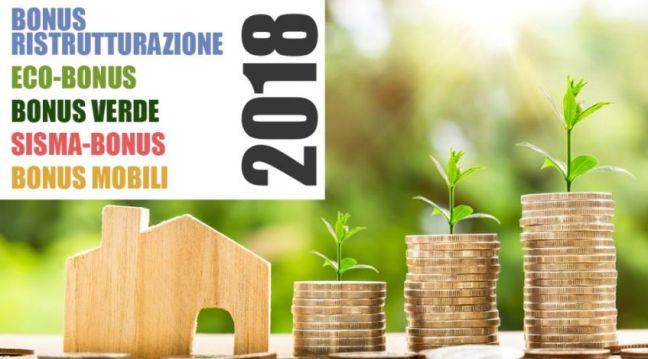 Bonus casa - ristrutturazione - detrazioni 2018- Immobiliare R.F. S.r.l.